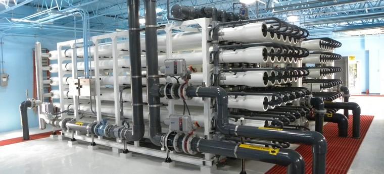 Промышленная очистка воды обратный осмос